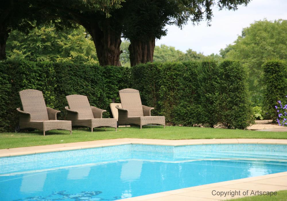 Swimming pool garden 2 artscape for Garden pools uk