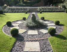 Formal Garden With Slate Path