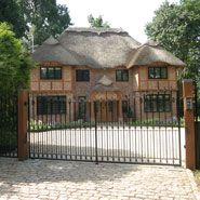 Driveway - thatched house