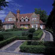 Formal garden - award-winning house