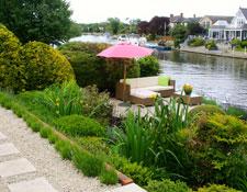 Riverside garden design, Berkshire