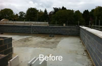 Roof garden - before