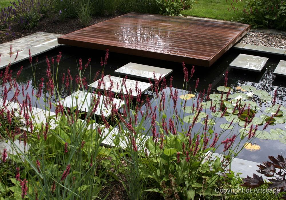 contemporary garden, Berkshire